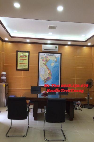 Bản đồ Việt nam treo tường Mẫu 1