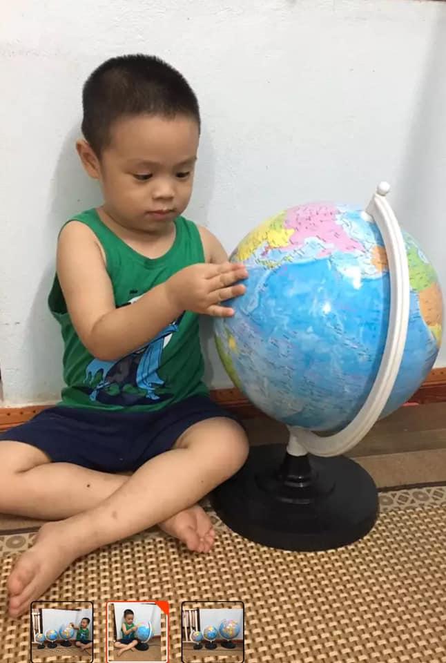 Quả địa cầu đk 17cm